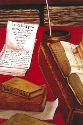 Gregorio González (detalle del manuscrito original)
